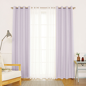Lilac 96 x 52 In. Blackout Window Treatments, Set of Four