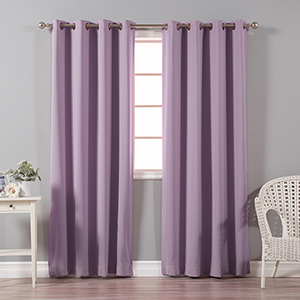 Lavender 96 x 52 In. Thermal Insulated Blackout Curtain Panel