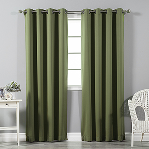 Olive 96 x 52 In. Thermal Insulated Blackout Curtain Panel