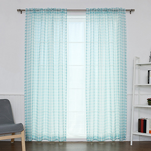 Sky Blue Houndstooth 84 x 52 In. Curtain Panel