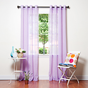 Purple Crushed Voile 96 x 52 In. Curtain Panel