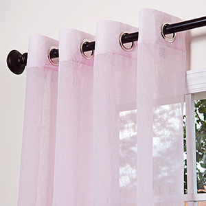 Pink Crushed Voile 108 x 52 In. Curtain Panel