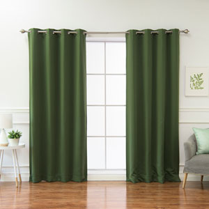 Solid Miss 96 x 52 In. Blackout Thermal Grommet Curtain Panels