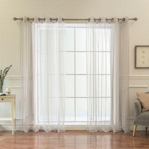Colored Tulle Grey 84 x 52 In. Curtains