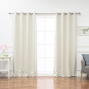 Star Cut Out Biscuit 84 x 52 In. Blackout Curtains