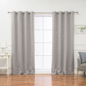 Star Cut Out Dove 84 x 52 In. Blackout Curtains