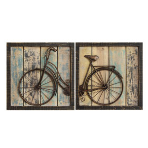 Rustic Bicycle Wall Decor, Set Of Two