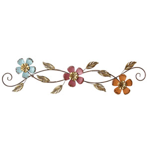 Floral Scroll Wall Decor