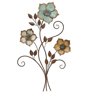 Tricolor Flower Wall Decor