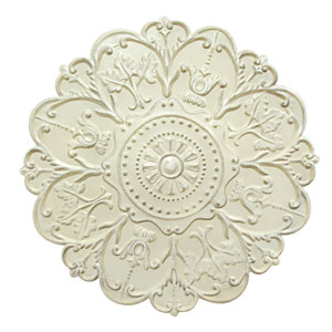 Shabby White Medallion Wall Decor