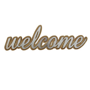 Wood And Metal Welcome Wall Art