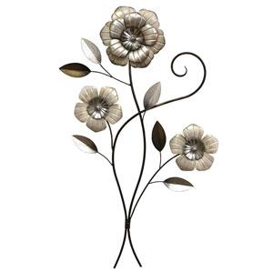 Three-Headed Simple Flower Wall Decor