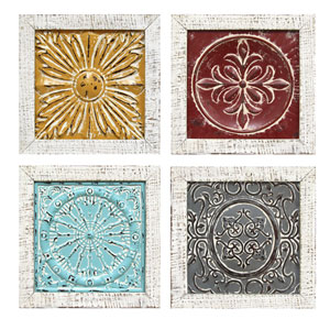 Accent Tile Wall Art, Set Of Four