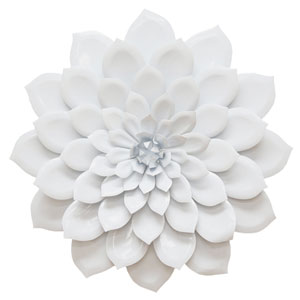 Layered White Flower Wall Decor
