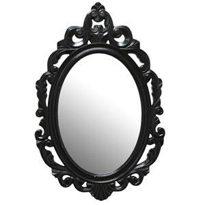 Black Baroque Mirror