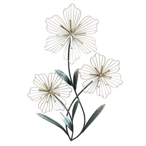 Tri-Flower Wall Decor