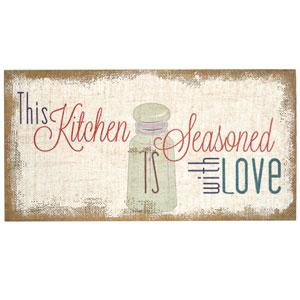 Seasoned With Love Typography Burlap