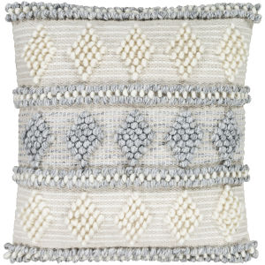 Anders Cream 22-Inch Pillow With Polyester Fill