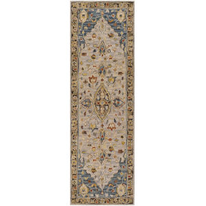 Artemis Camel and Dark Blue Runner 2 Ft. 6 In. x 8 Ft. Rugs