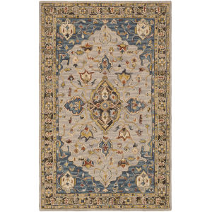 Artemis Camel and Dark Blue Rectangle 6 Ft. x 9 Ft. Rugs