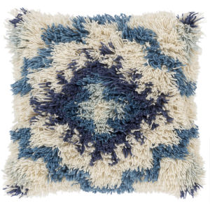 Santiago Blue 20-Inch Pillow With Polyester Fill