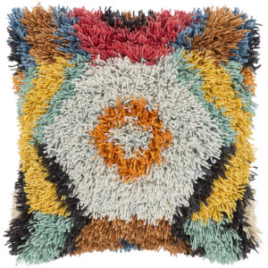 Santiago Orange 20-Inch Pillow With Polyester Fill