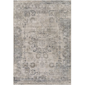 Aisha Medium Gray Rectangle 6 Ft. 7 In. x 9 Ft. 6 In. Rugs