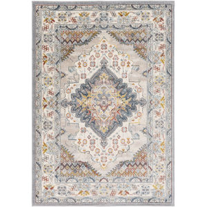 Ankara Pale Blue Rectangle 6 Ft. 7 In. x 9 Ft. Rugs