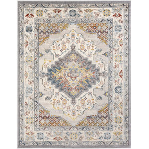 Ankara Pale Blue Rectangle 7 Ft. 10 In. x 10 Ft. 3 In. Rugs