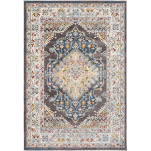 Ankara Charcoal Rectangle 6 Ft. 7 In. x 9 Ft. Rugs