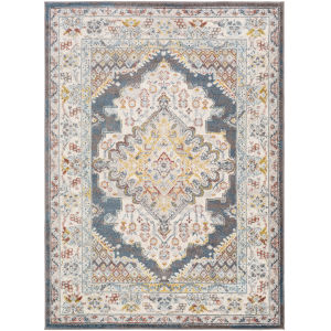 Ankara Bright Blue Rectangle 6 Ft. 7 In. x 9 Ft. Rugs