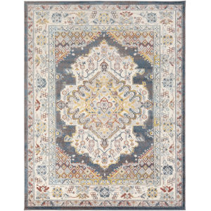 Ankara Bright Blue Rectangle 7 Ft. 10 In. x 10 Ft. 3 In. Rugs
