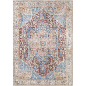 Amelie Burnt Orange Rectangle 5 Ft. 3 In. x 7 Ft. 3 In. Rugs