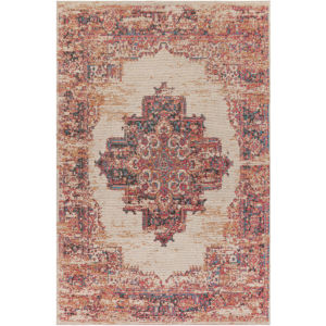Amsterdam Bright Red and Ivory Rectangular: 8 Ft. x 10 Ft. Rug