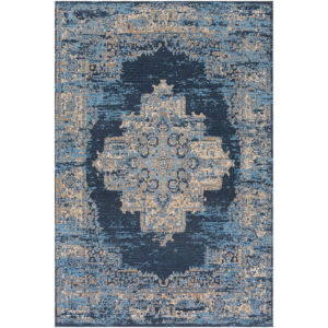 Amsterdam Navy and Beige Rectangular: 8 Ft. x 10 Ft. Rug