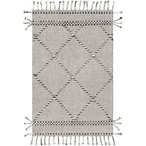 Apache Black and Cream Rectangle 6 Ft. x 9 Ft. Rug