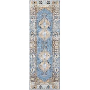 Antiquity Bright Blue Runner 2 Ft. 7 In. x 10 Ft. Rugs