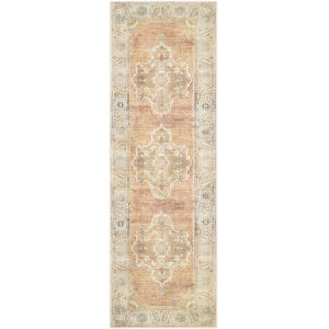 Antiquity Tan Runner 2 Ft. 7 In. x 10 Ft. Machine Woven Rug