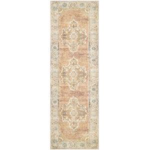 Antiquity Tan Runner 2 Ft. 7 In. x 12 Ft. Machine Woven Rug