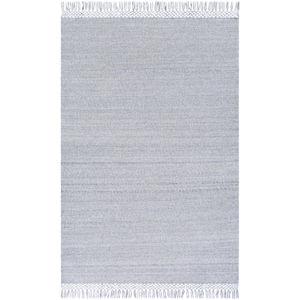 Azalea Light Gray and Medium Gray Rectangular: 8 Ft. 10 In. x 12 Ft.  Rug