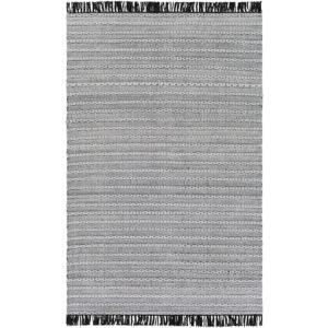Azalea Black, Silver Gray and White Rectangular: 8 Ft. x 10 Ft. Rug