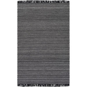 Azalea Medium Gray, Black and Silver Gray Rectangular: 5 Ft. x 7 Ft. 6 In.  Rug