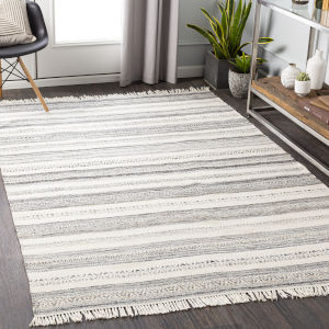 Azalea Beige and Charcoal Rectangular: 8 Ft. x 10 Ft. Rug