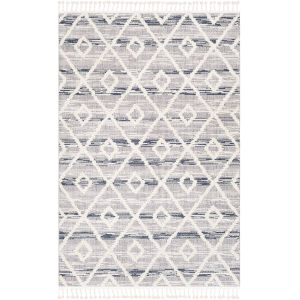 Azilal Medium Gray Rectangle 5 Ft. 3 In. x 7 Ft. 3 In. Rugs