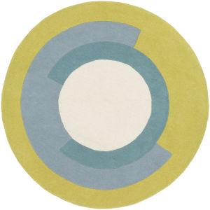 Beck Lime Round: 5 Ft. Diameter Rug