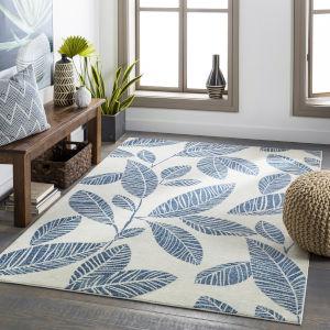 Bodrum Pale Blue Rectangular: 8 Ft. 10 In. x 12 Ft. Indoor-Outdoor Rug