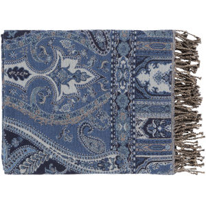 Boteh Dark Blue Throw