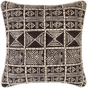 Binga Dark Brown 20-Inch Throw Pillow