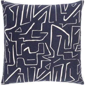 Bogolani Black and Cream 20 x 20 Inch Throw Pillow