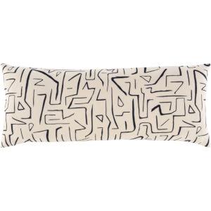 Bogolani Cream and Black 30 x 12 Inch Throw Pillow